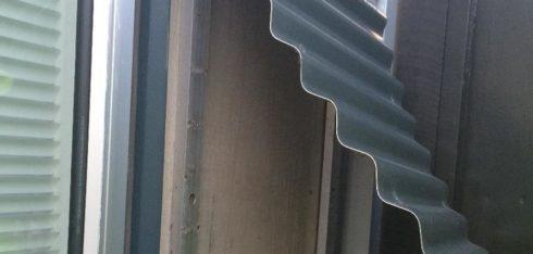 Kontrol af vindspærreplade på nordvendt facade